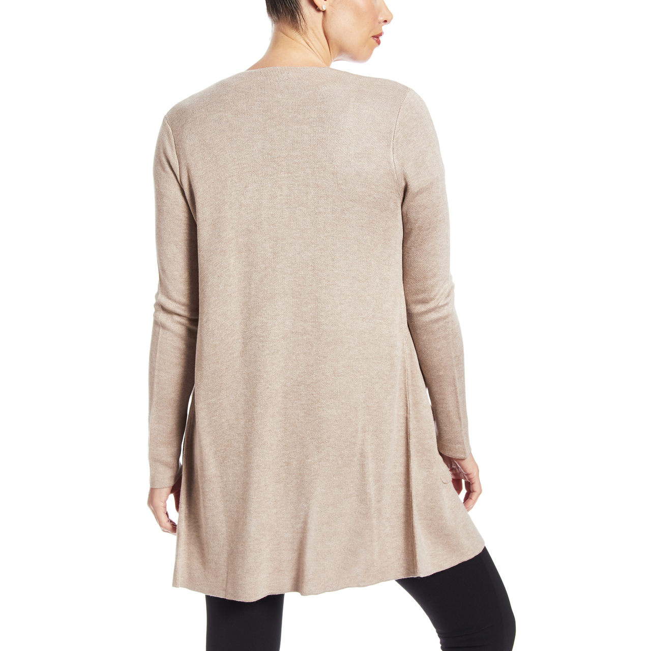 Solid Two Pocket Duster in Mocha Heather
