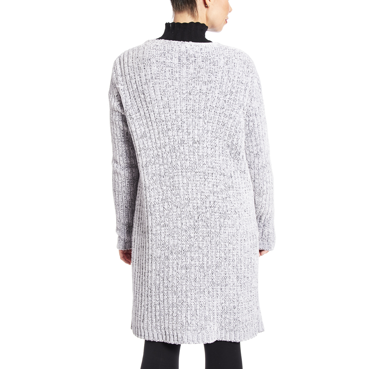 Chenille Two Pocket Duster In Winter White