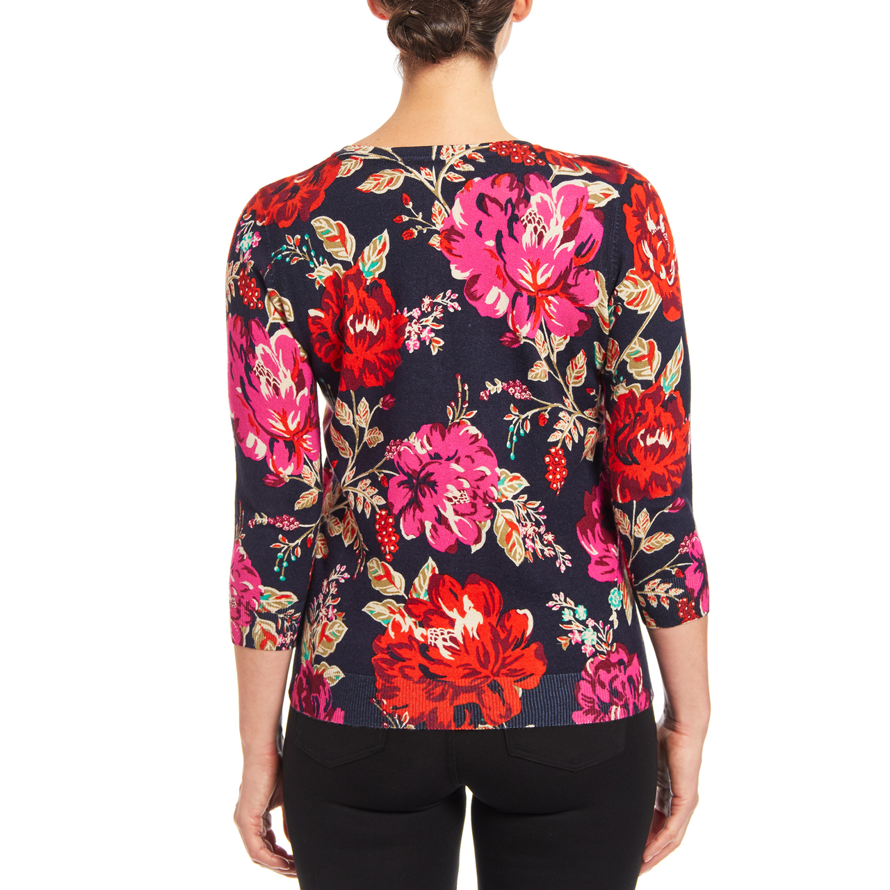 Floral Button-up Cardigan in Nicolette