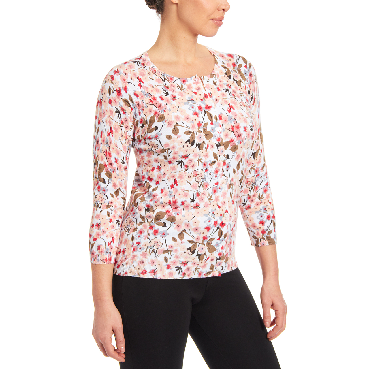 Floral Button-up Cardigan in Gillian
