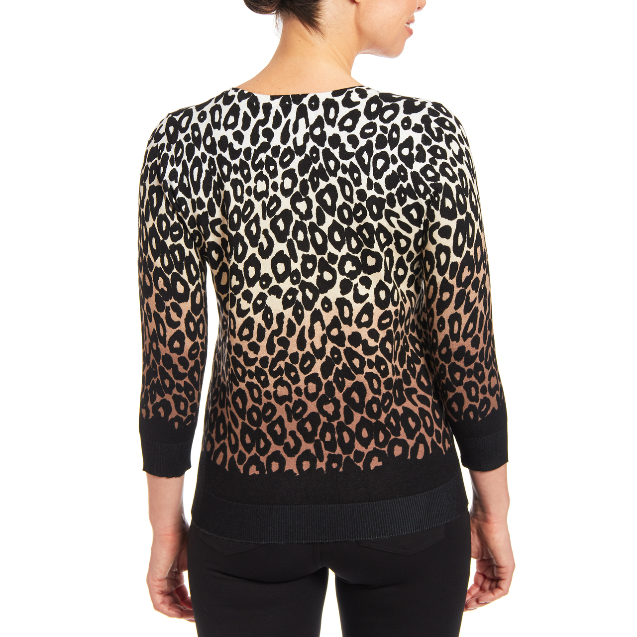 Button-up Cardigan in Animal Print