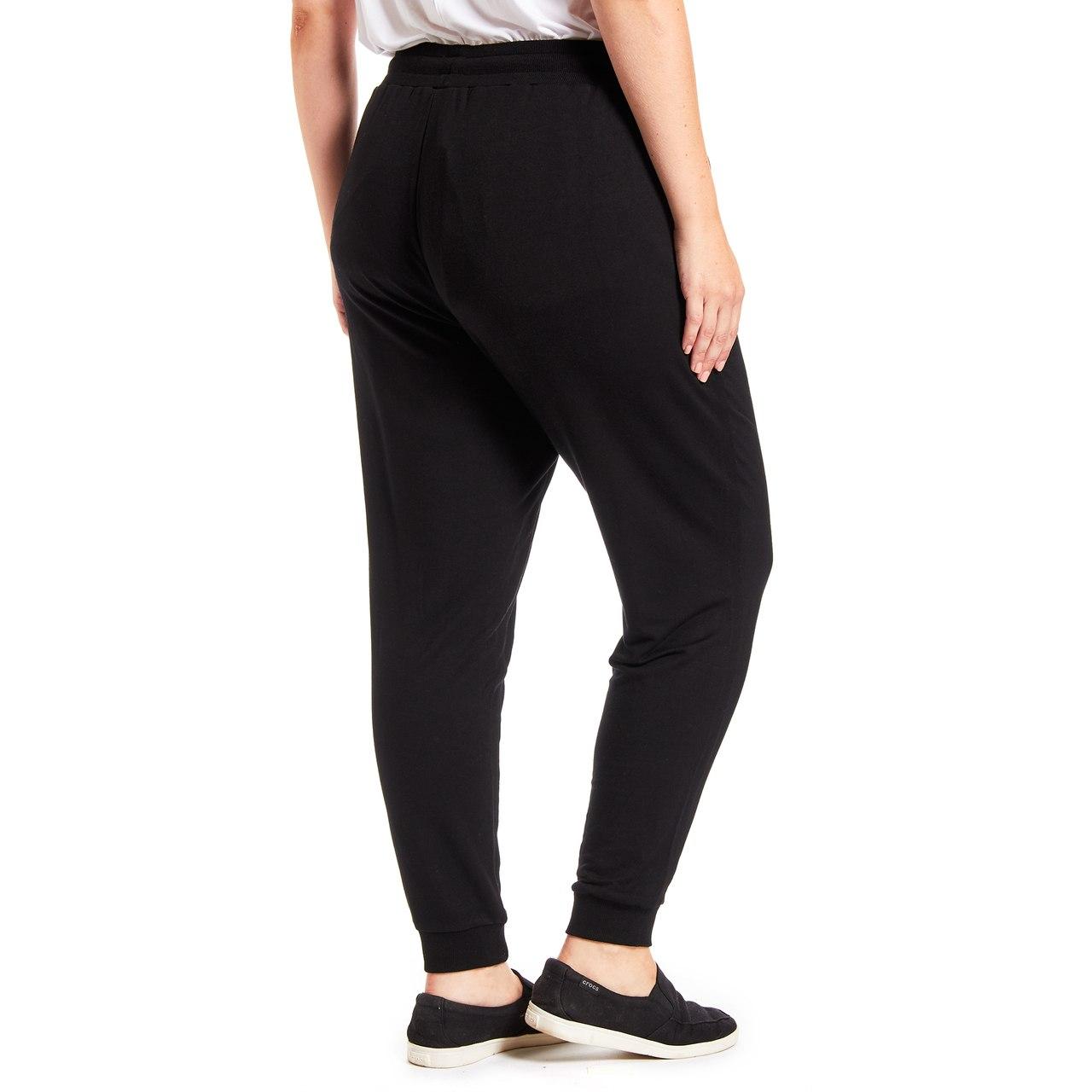 Curvy Drawstring Jogger Pant In Black