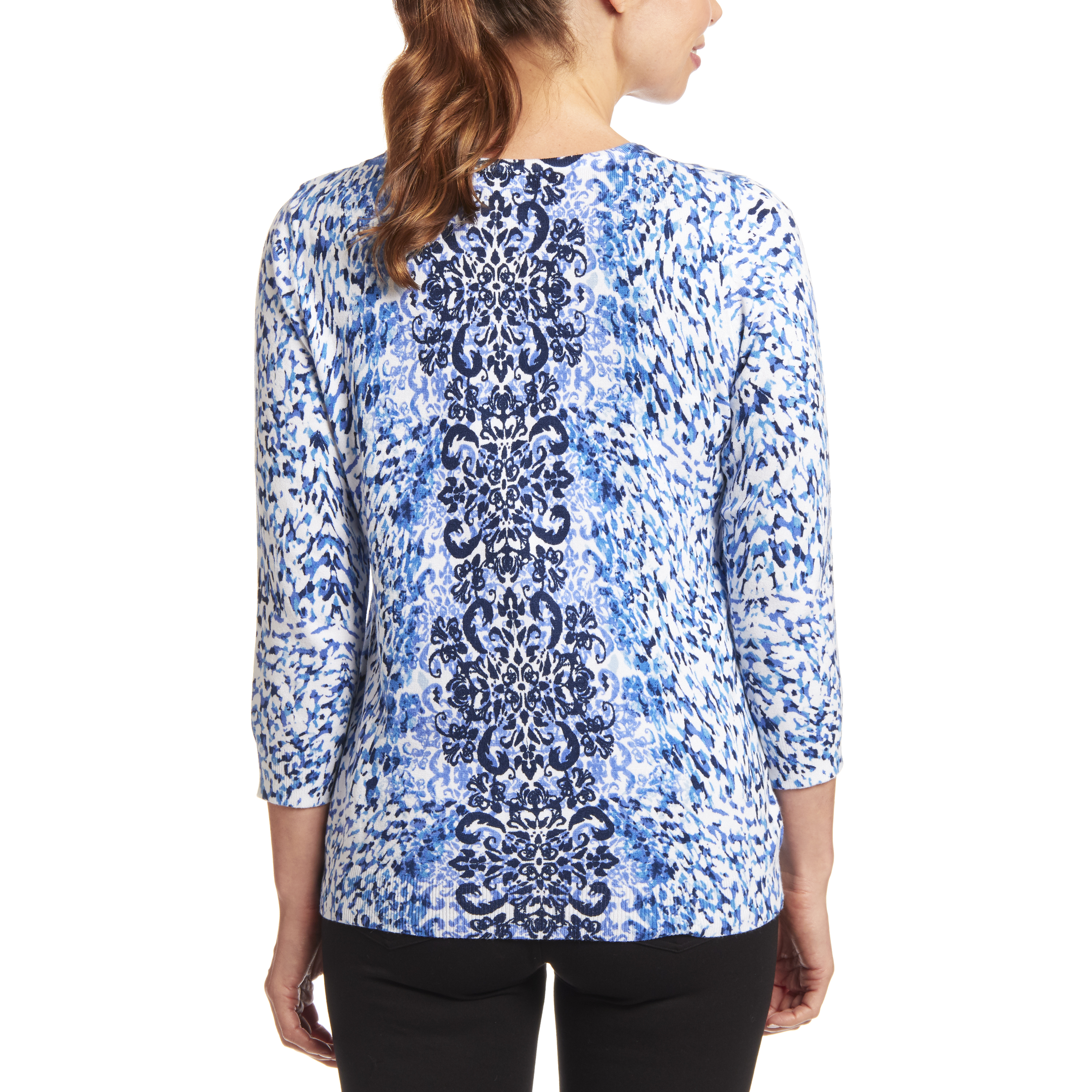 Classic Button-up Cardigan in Baroque Animal