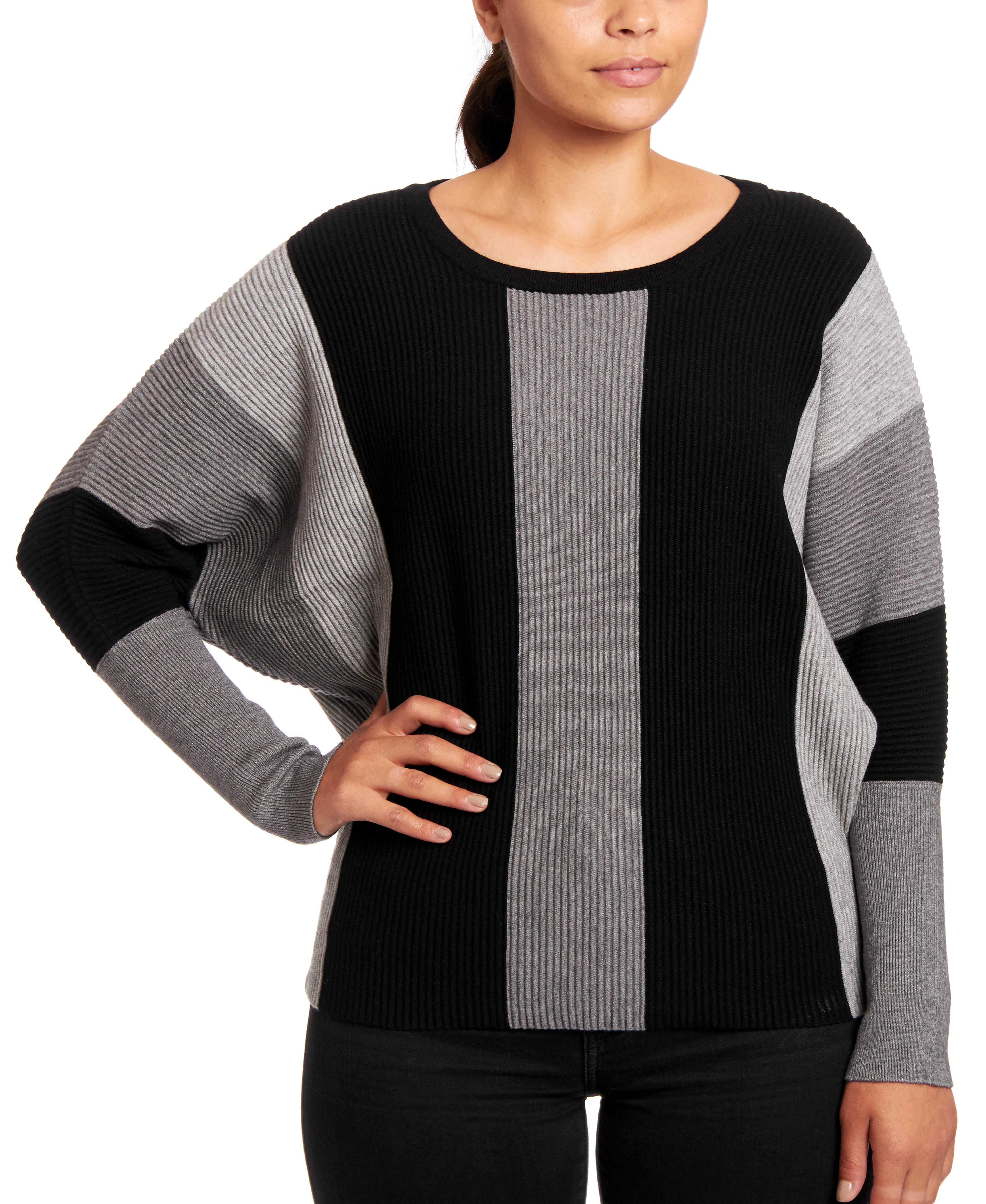 Color-block Dolman Sleeve Sweater