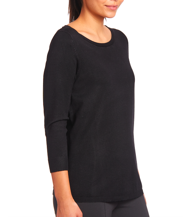 Black Keyhole Pullover Sweater