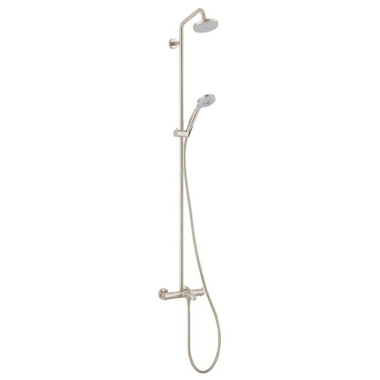 Hansgrohe 027143821 Croma Showerpipe Shower System With Tub Spout Multi Funtion Hand Shower 63 In Hose And Shower Head