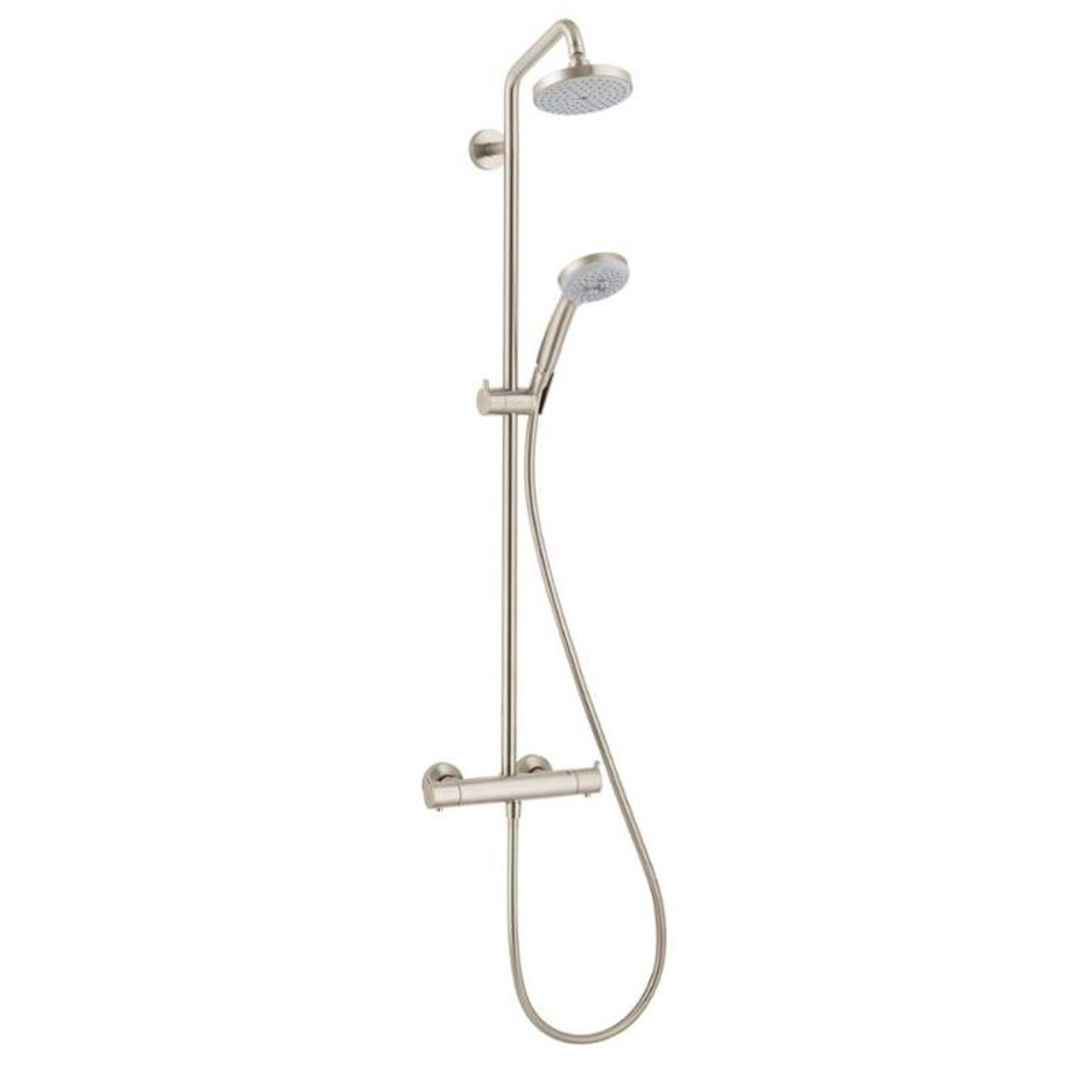 Hansgrohe 027169821 Croma Showerpipe Shower System With 1 75 Gpm Multi Funtion Hand Shower 63 In Hose And Shower Head