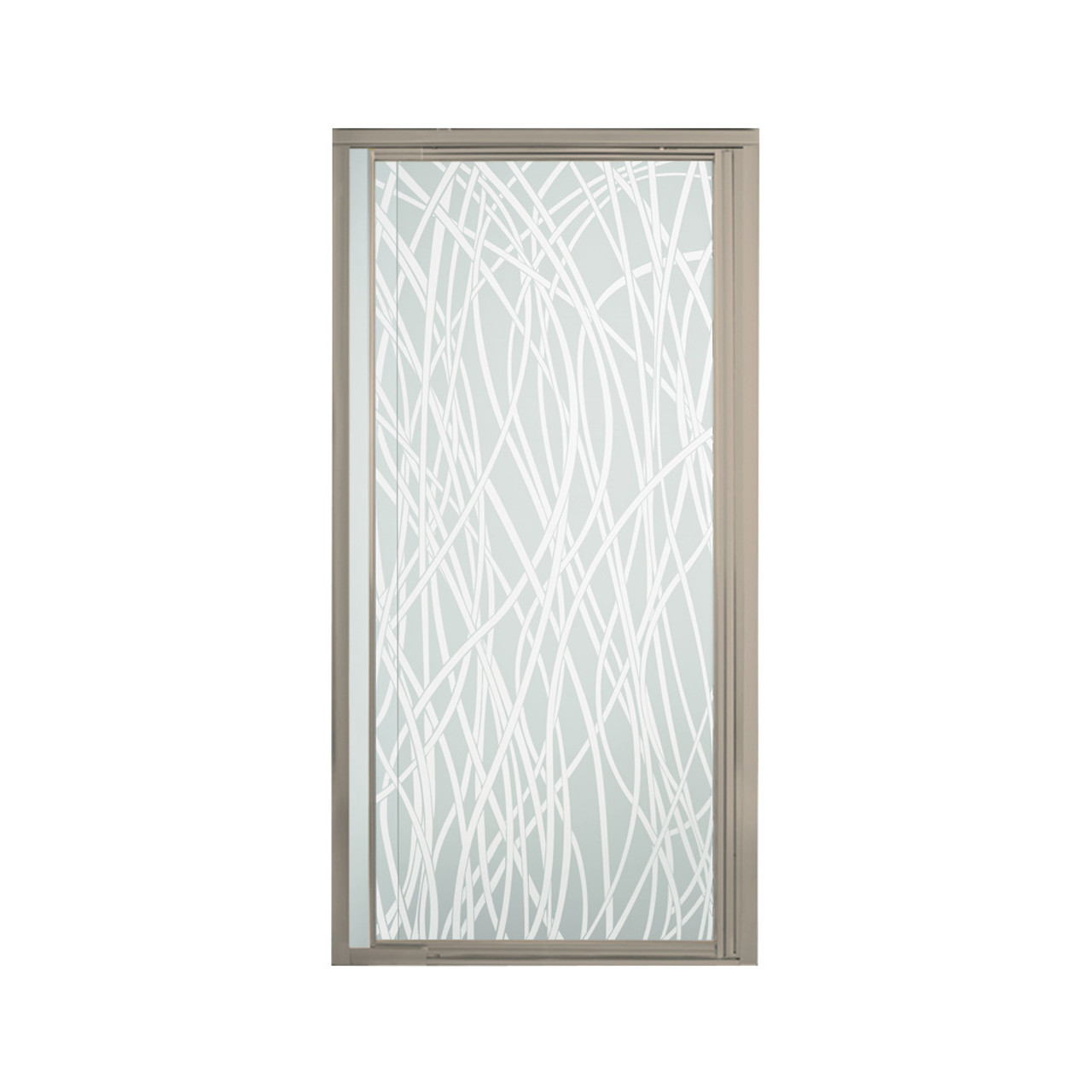 Sterling 1505d 42n G65 Vista Pivot Ii Framed Alcove Shower Door With Tangle Glass