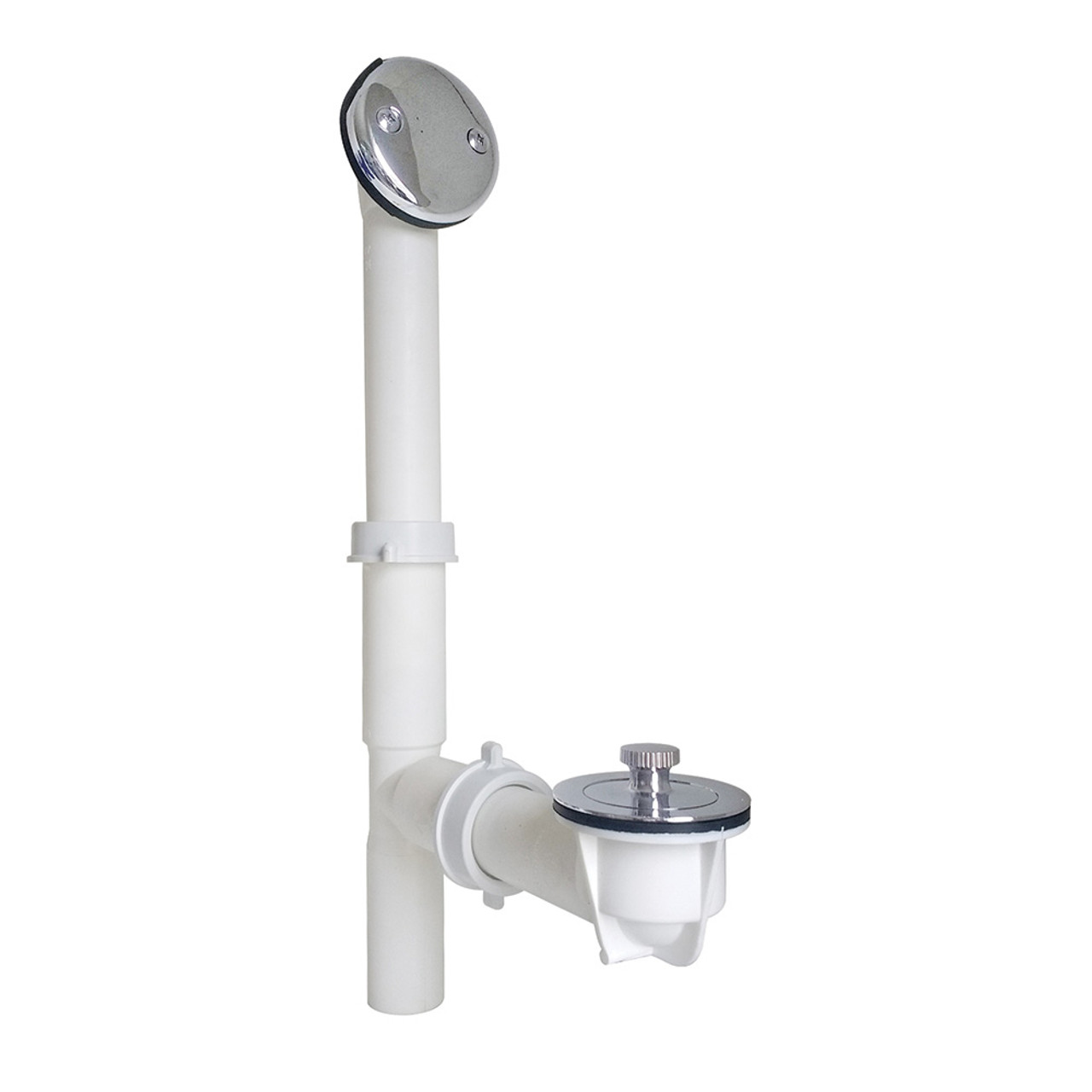 Jb Products Jbp 700pvcbx Pc Tubular Bathtub Drain With Lift And Turn In Polished Chrome Polished Stainless Brushed Stainless In Polished Stainless Brushed Stainless 700pvcbx Pc Online Bath1 Com