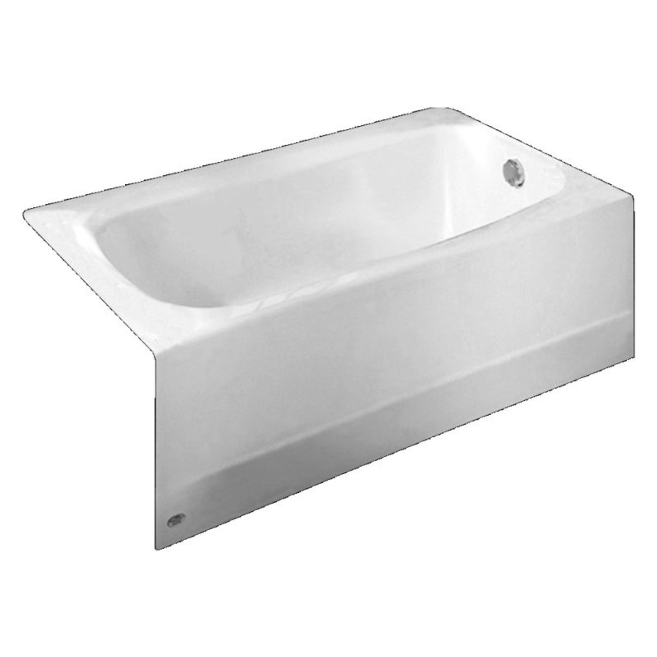 American Standard 2461.002.020 Cambridge Procelain-Enameled Steel 60-In X  32-In Alcove Bathtub With Right Hand Drain