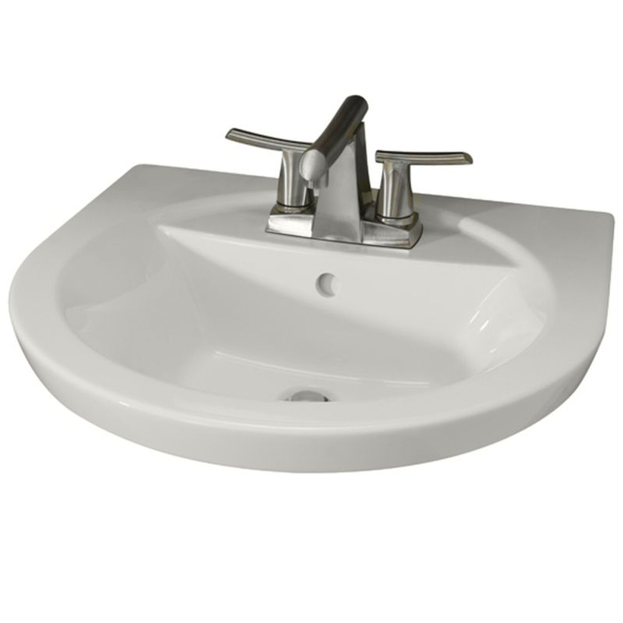 American Standard 0403.004.020 Tropic Petite Above Counter Or Drop Lavatory  Sink With 3 Faucet Holes (4 Centers)