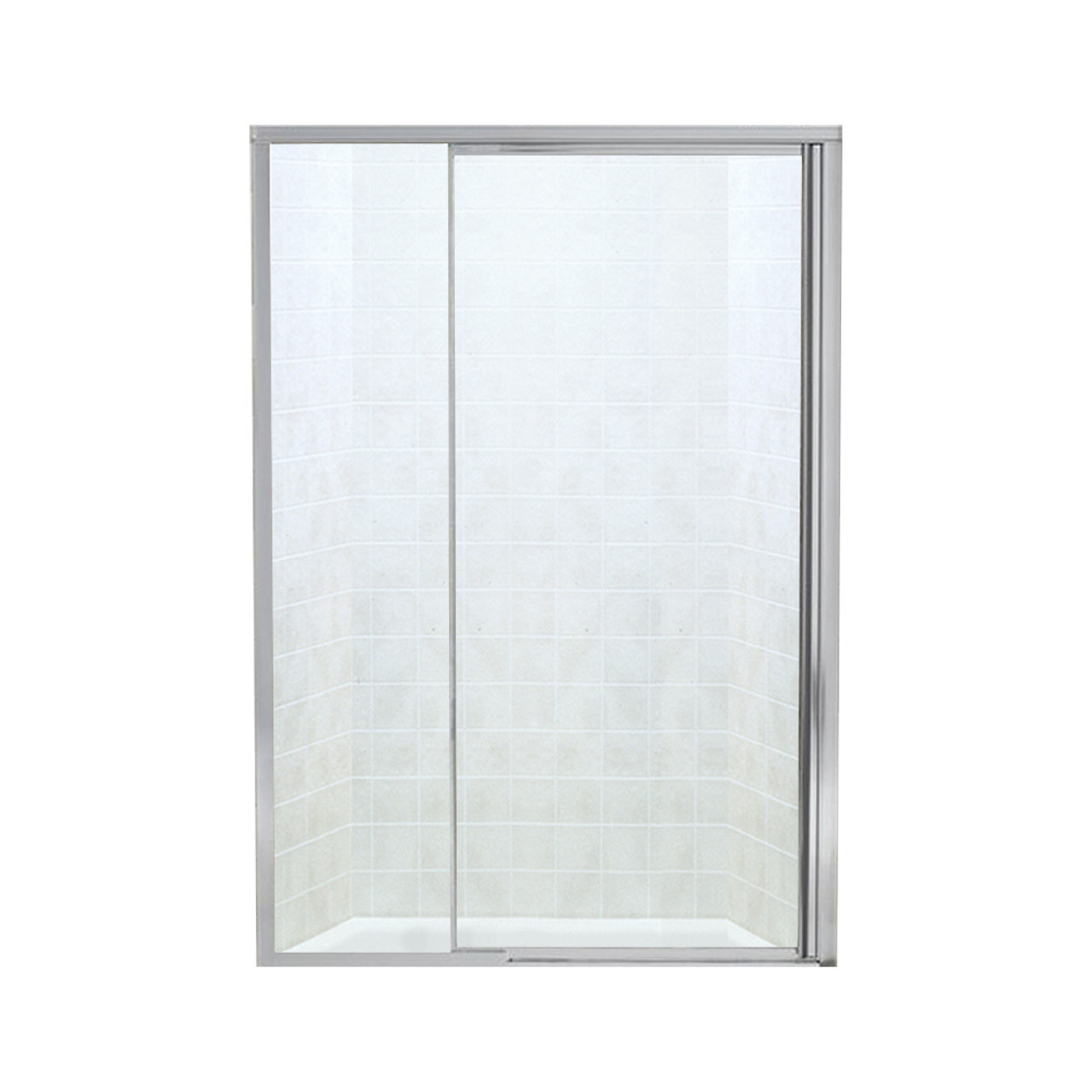 Sterling Sp1505d 48s Vista Pivot Ii 42 To 48 In X 65 5 In Framed Pivot Shower Door With Clear Glass