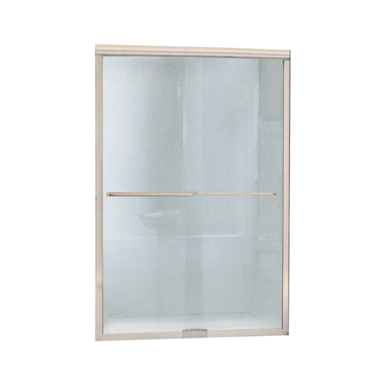 Sterling Finesse 44 To 45 5 In X 65 5 In Frameless Sliding Alcove Shower Door With Clear Glass In Nickel With Clear Glass 5365ez 45n Online Bath1 Com