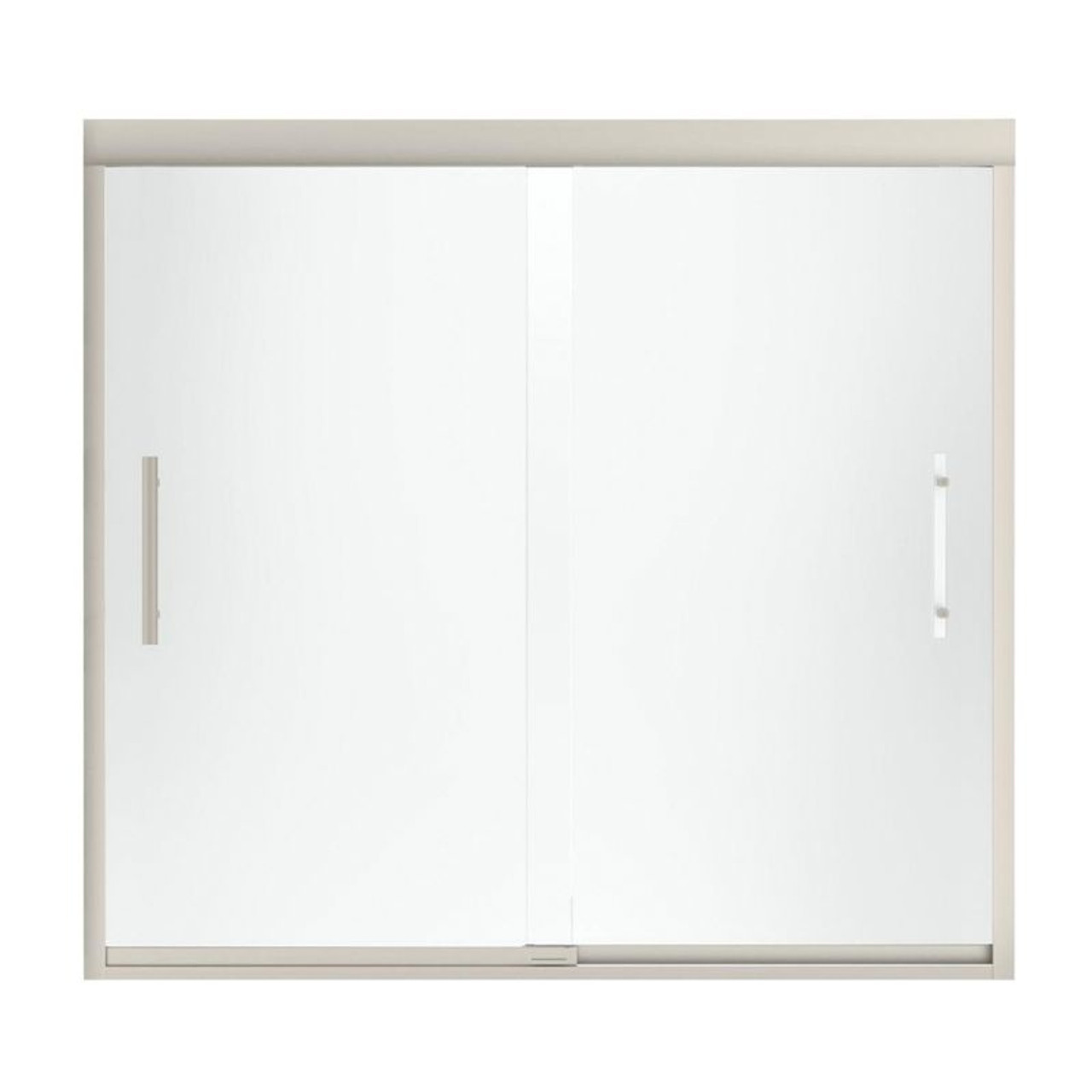 Sterling 542808 59n G03 Finesse 56 625 To 59 625 In X 55 5 In Frameless Alcove Shower Door With Frosted Glass