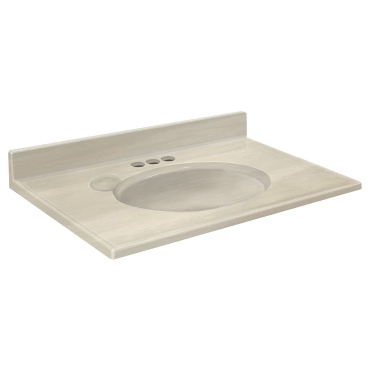 Transolid Cultured Marble 37 In X 19 In Vanity Top In White On Bone 1409 7322 Online Bath1 Com