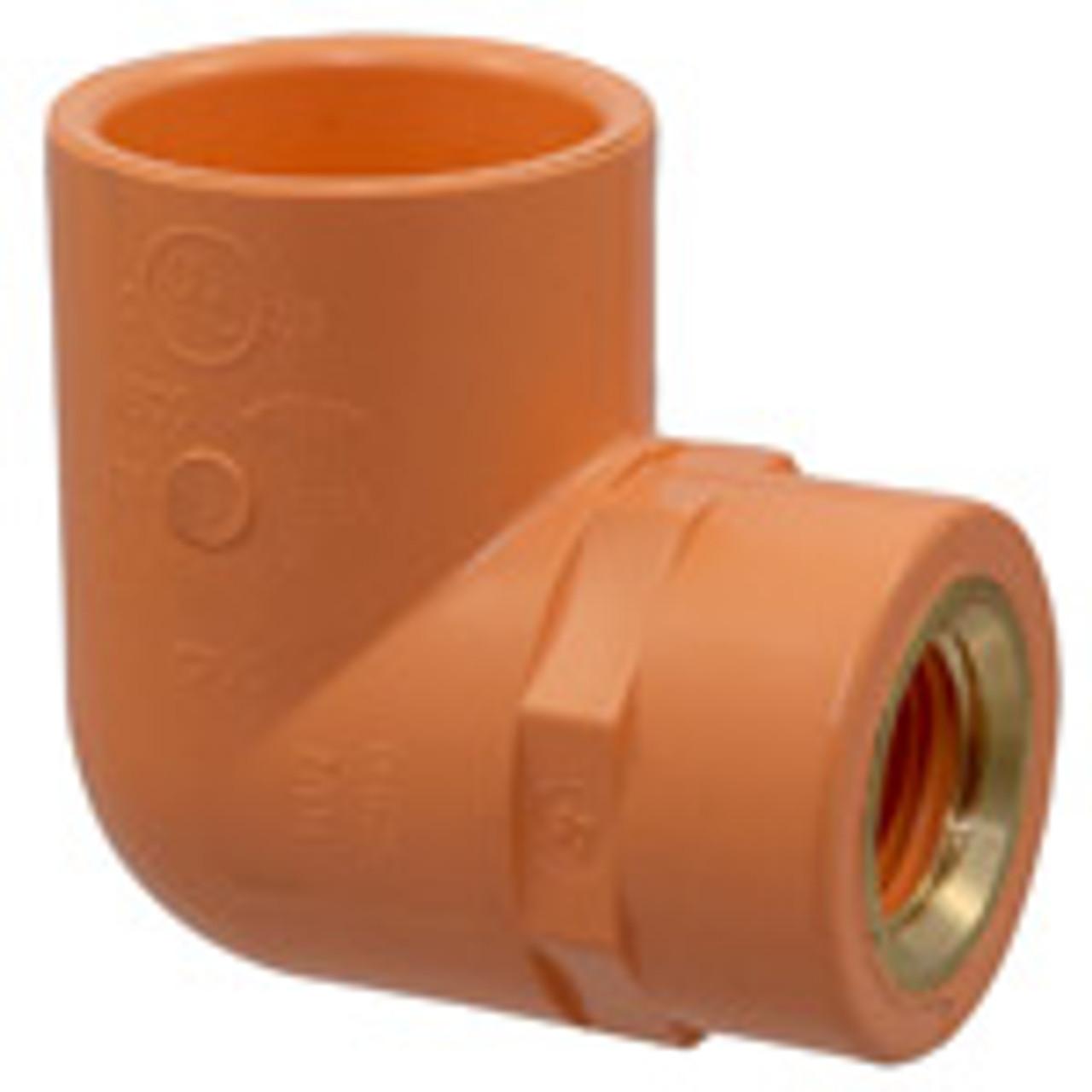 "Blazemaster®  CPVC 1/"" x 3//4/"" Sprinkler Head 90° w// Metal Thread Insert"
