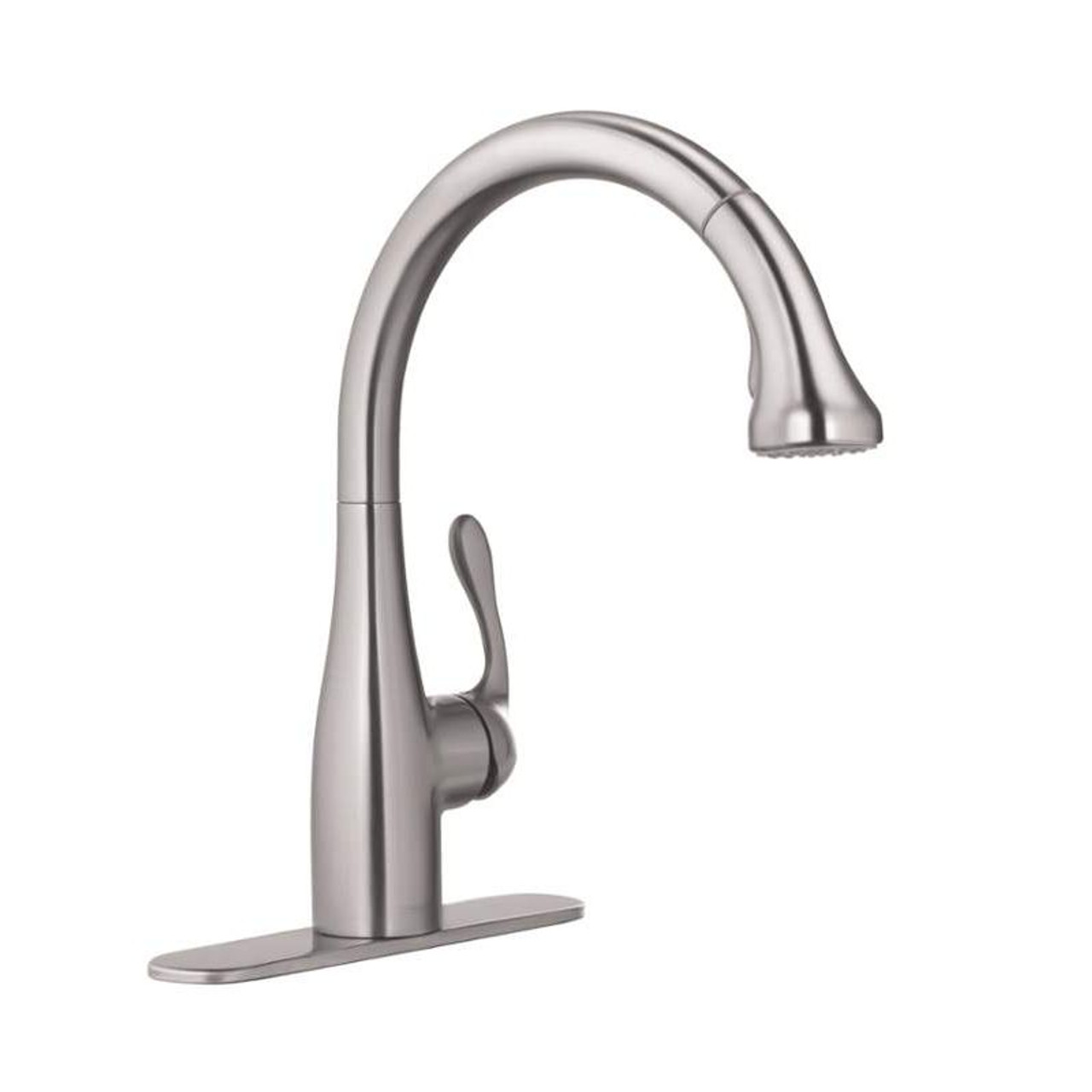 Hansgrohe Allegro E Pull Down Kitchen Faucet With High Arc Spout Magnetic Docking And Locking Spray Diverter In Steel Optik 04066860 Online Bath1 Com