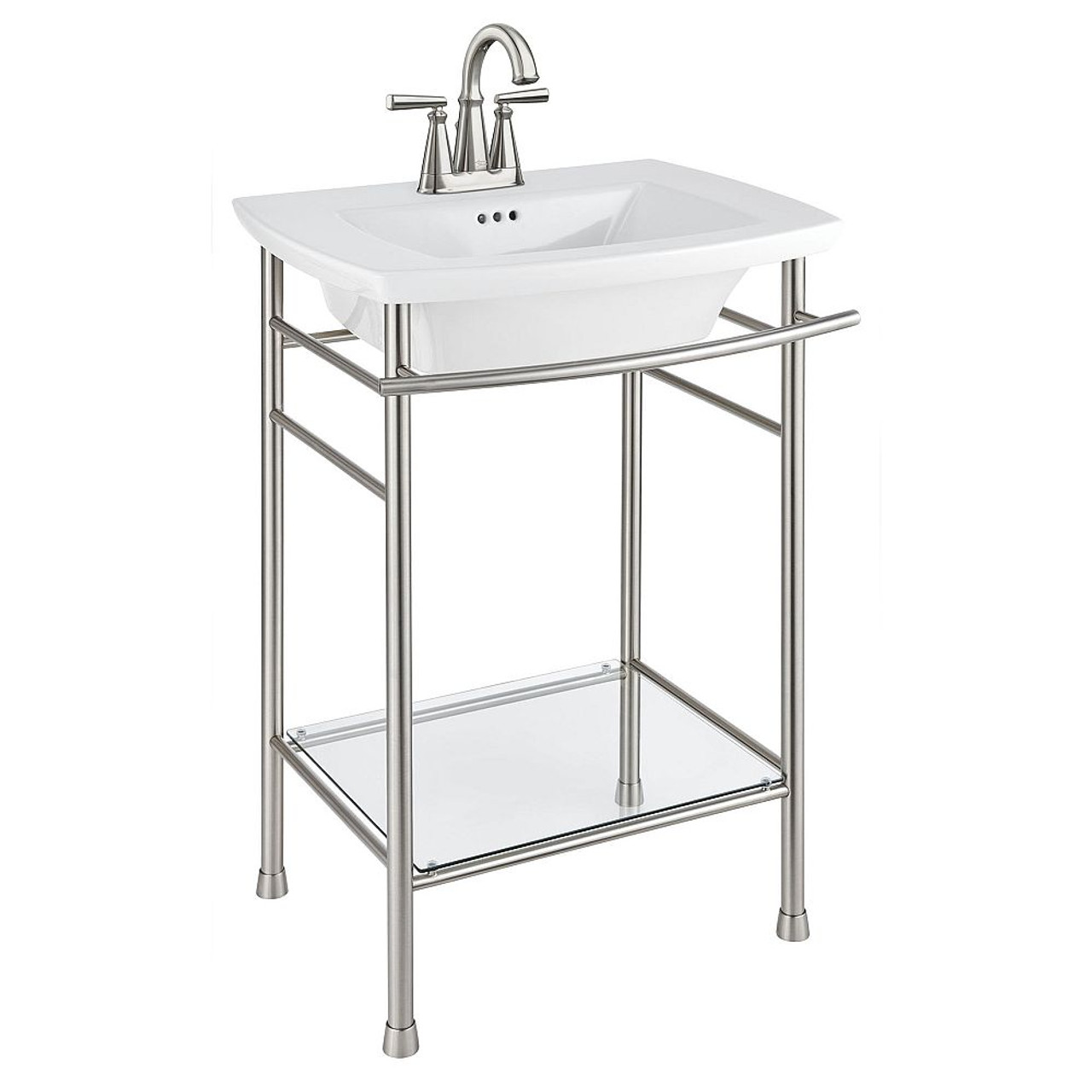 American Standard Edgemere Pedestal Sink With 4 In Console Table