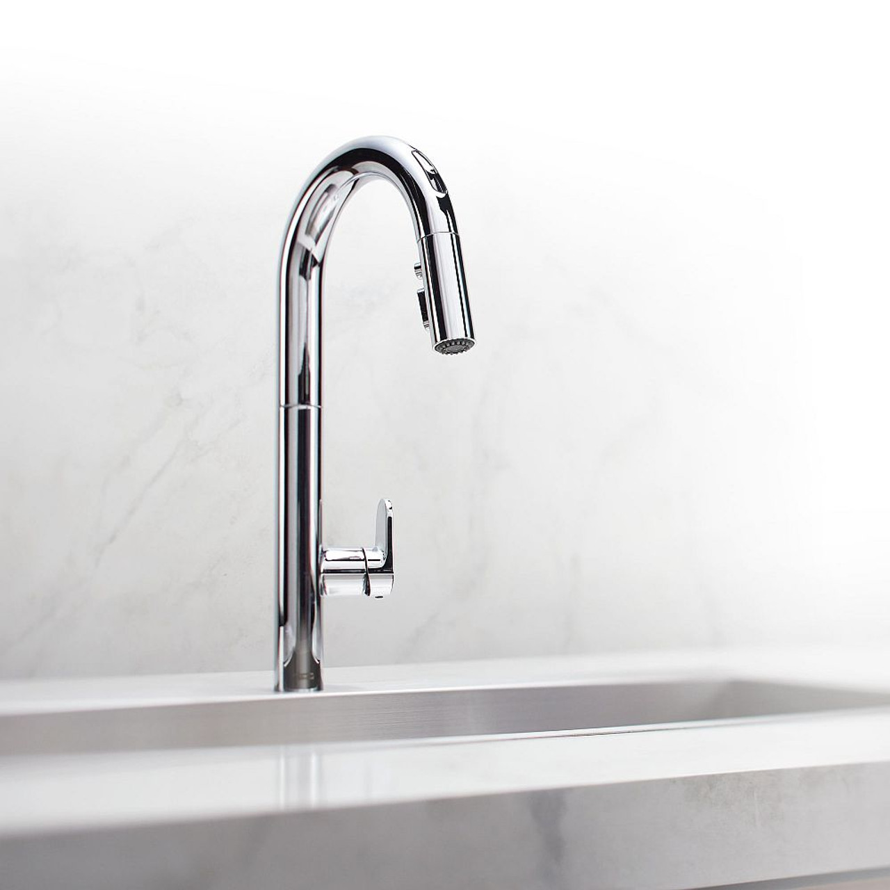 American Standard Beale Pull Down Kitchen Faucet In Chrome 4931 300 002 Online Bath1 Com