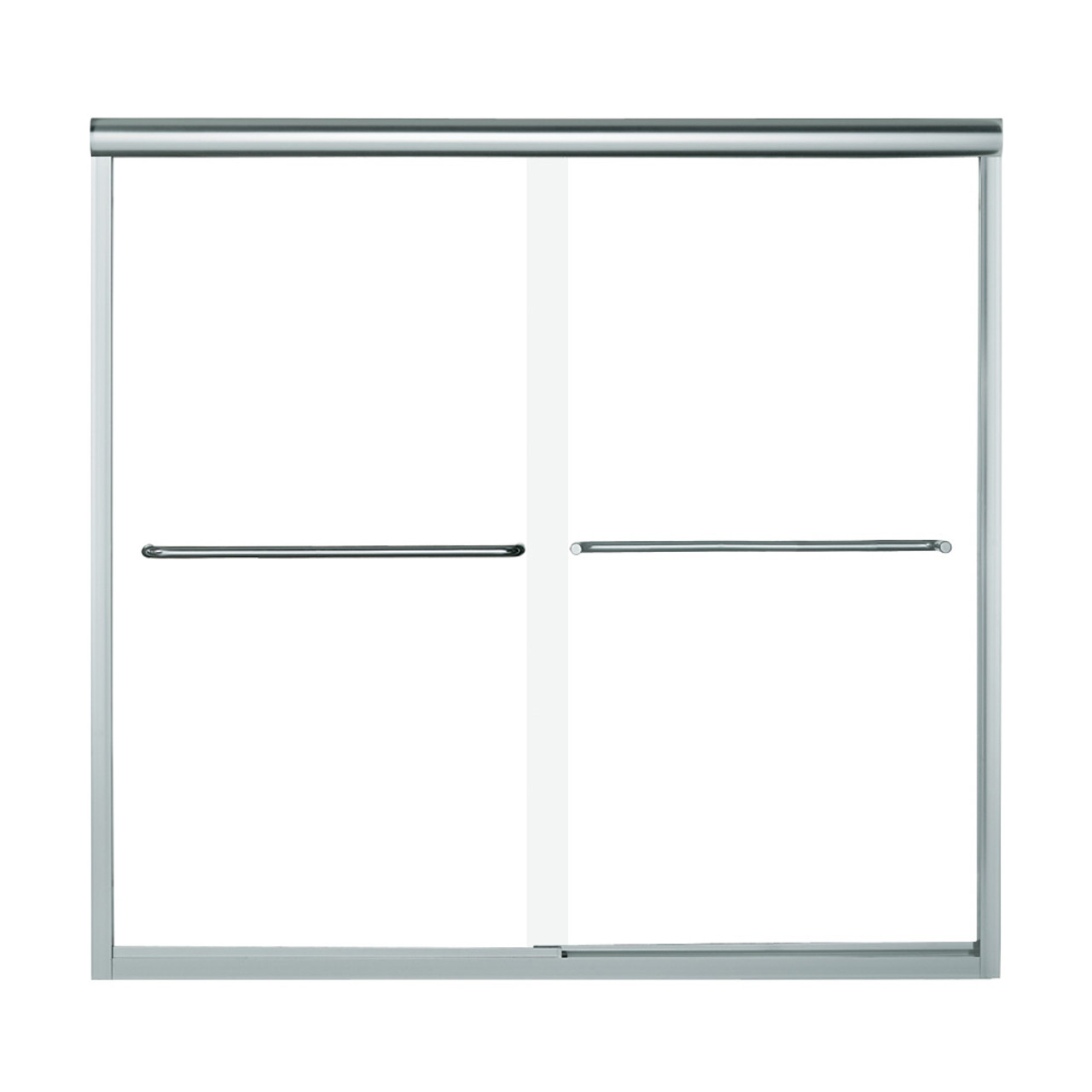 Sterling 5405 59s G05 Finesse 59 625 In X 58 31 In Frameless Alcove Shower Door With Smooth Clear Glass Texture Glass