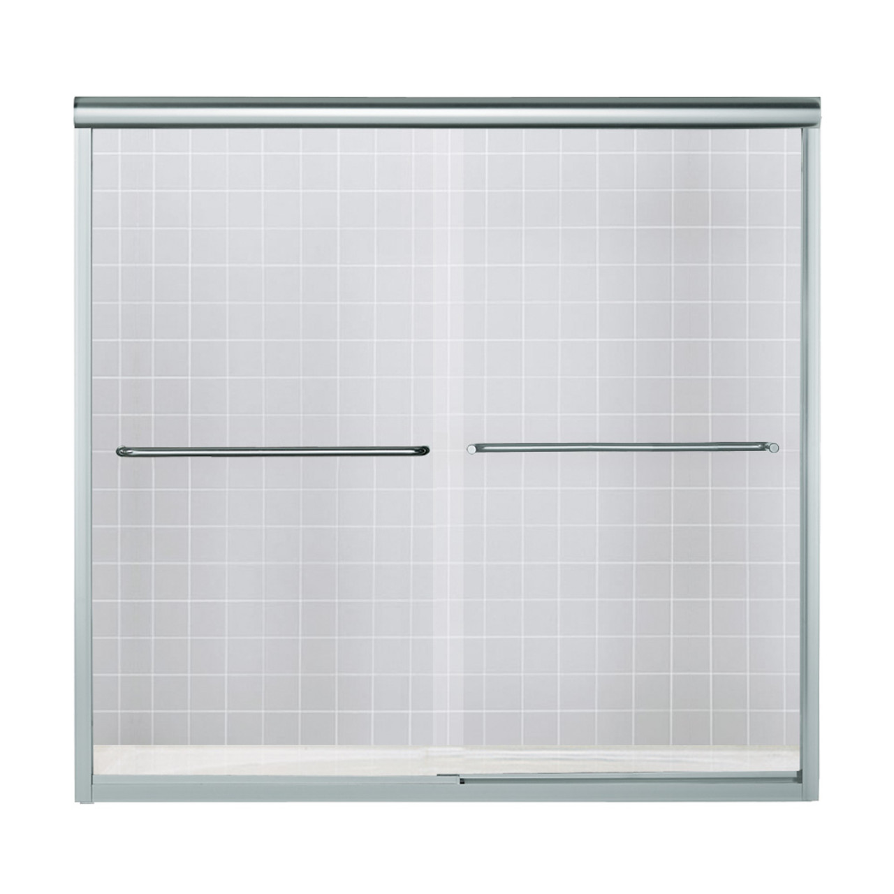 Sterling 5425 59s G05 Finesse 59 625 In X 55 75 In Frameless Alcove Shower Door With Smooth Clear Glass Texture Glass