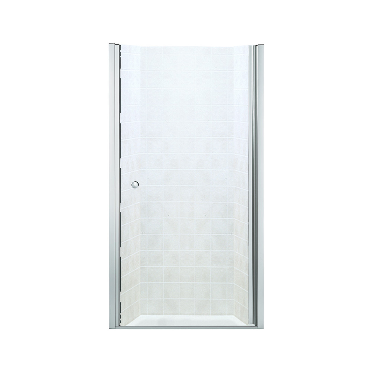 Sterling 6305 30s Finesse 28 3 4 In X 30 1 4 In Frameless Hinged Alcove Shower Door With Clear Glass