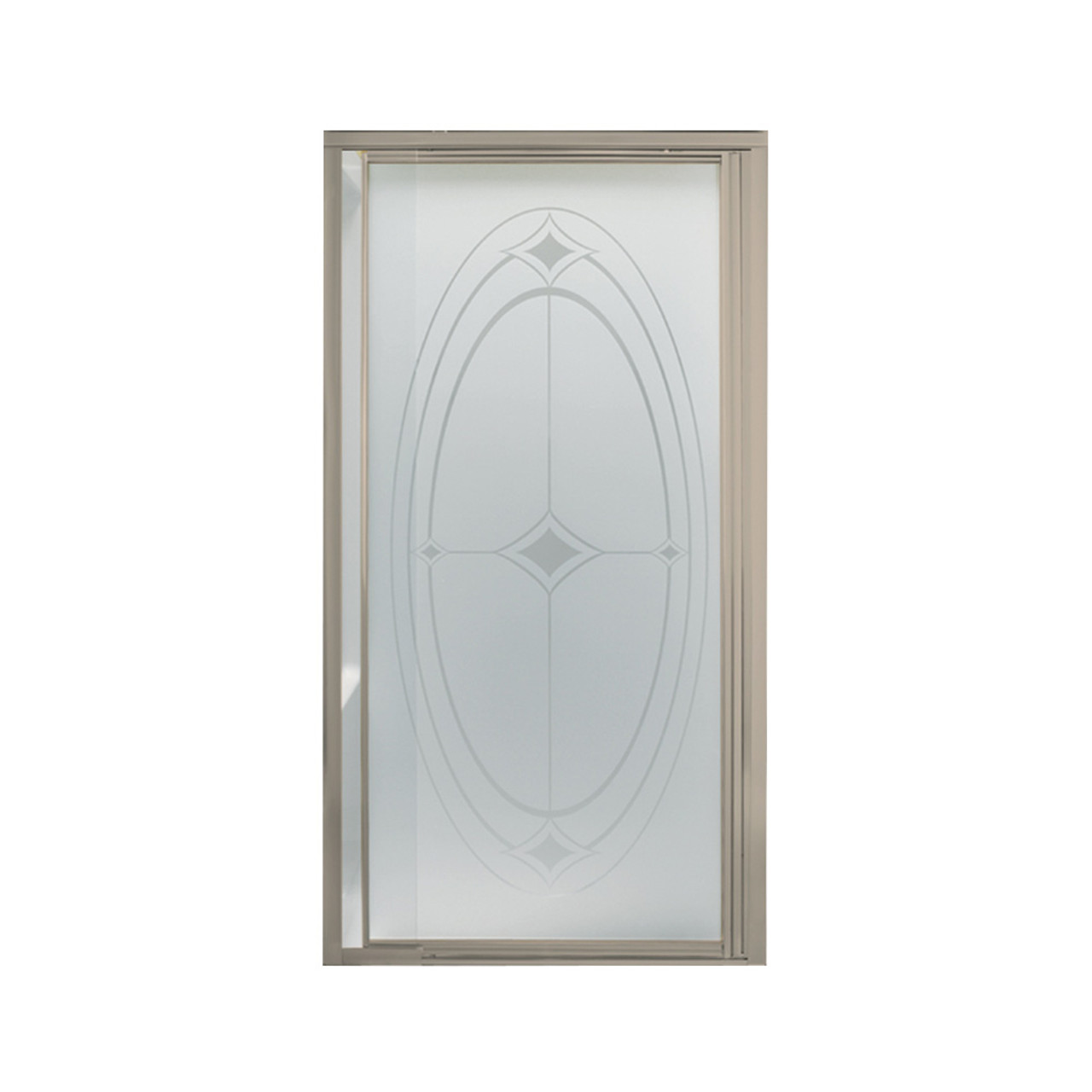 Sterling 1505d 36n G07 Vista Pivot Ii 31 1 4 In X 36 In Framed Alcove Shower Door With Ellipse Glass