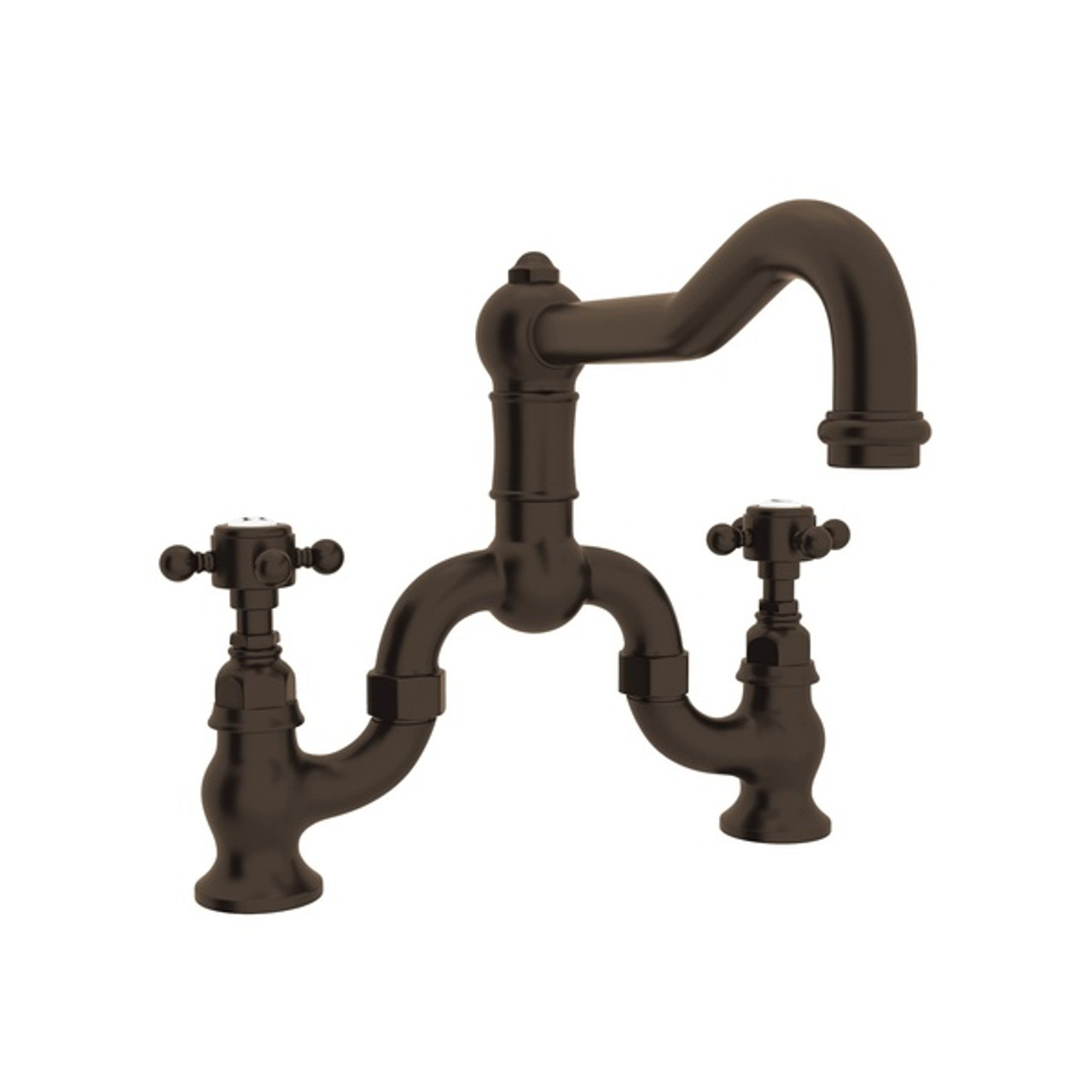 Rohl A1420XMTCB-2 Italian Kitchen Acqui Bridge Faucet With Double-Cross  Handle