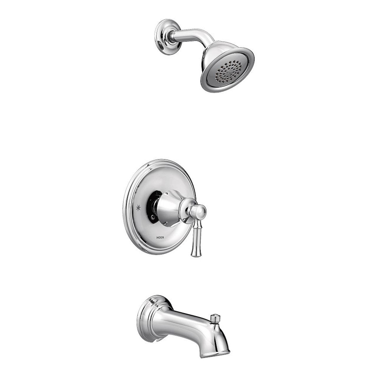 MOEN Align Single-Handle Posi-Temp Tub and Shower Faucet Trim Kit in Chrome