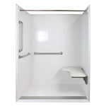 ADA 1-Piece Roll-in Showers