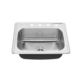 American Standard Colony 25 In Single Basin 3 Faucet Hole Kitchen Sink In Stainless 22sb 6252284s 075 Online Bath1 Com
