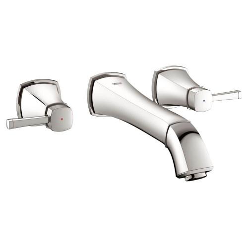 Grohe 20416000 Grandera 2-Handle 3-Hole Wall-Mounted Bathroom Faucet