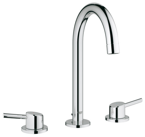 Grohe 2021700A Concetto L-Size Bathroom Faucet with High Arc Spout In  StarLight Chrome