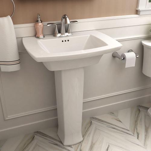 American Standard Edgemere Pedestal Sink With 4 In Center In White