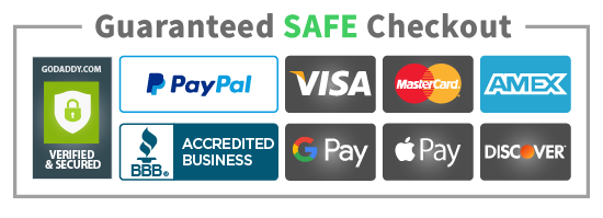 Master Card, Visa, Google Pay, Paypal, Amazon Pay Verified