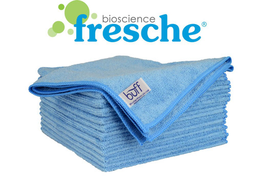16x16 Buff Pro Antimicrobial Microfiber Towels 12-Pack