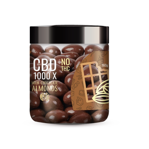 R.A. Royal Sweets – 1000x CBD Milk Chocolate Covered Almonds