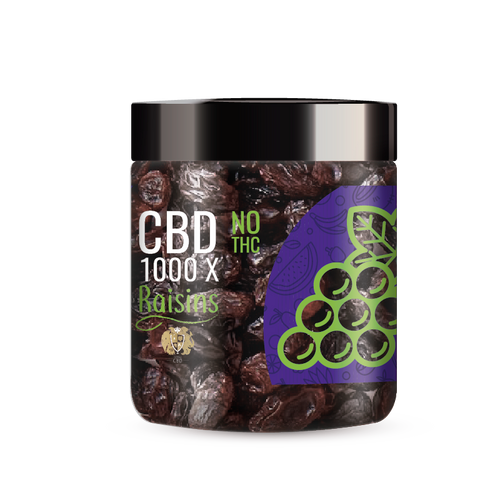 R.A. Royal Fruits 1000x CBD Infused Raisins provide a natural CBD hemp extract in your favorite fruity taste! The delectable CBD infused fruits manufactured from industrial hemp plants will let you experience the delicious benefits of CBD oil.  NO THC.