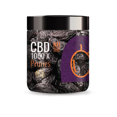 R.A. Royal Fruits 1000x CBD Infused Prunes provide a natural CBD hemp extract in your favorite fruity taste! The delectable CBD infused fruits manufactured from industrial hemp plants will let you experience the delicious benefits of CBD oil.  NO THC.
