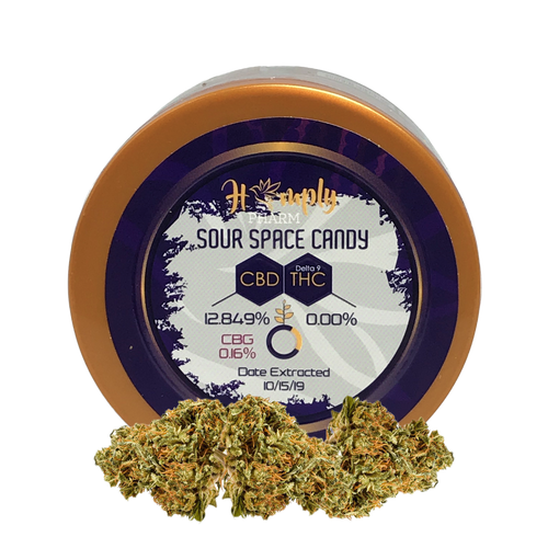 Hemply Pharm CBD Sour Space Candy Hemp Flower