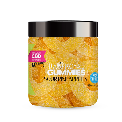R.A. Royal Gummies – 600MG CBD Infused Sour Pineapple