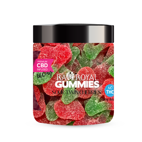 R.A. Royal Gummies – 600MG CBD Infused Sour Twin Cherries