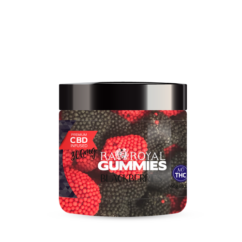R.A. Royal Gummies – 300MG CBD Infused Blackberries