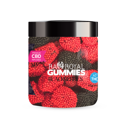 R.A. Royal Gummies – 600MG CBD Infused Blackberries