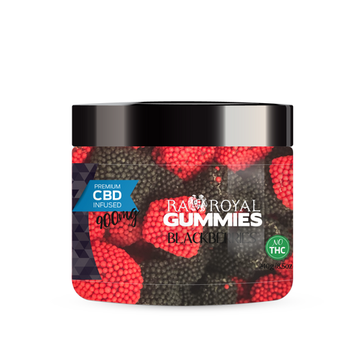 R.A. Royal Gummies – 900MG CBD Infused Blackberries