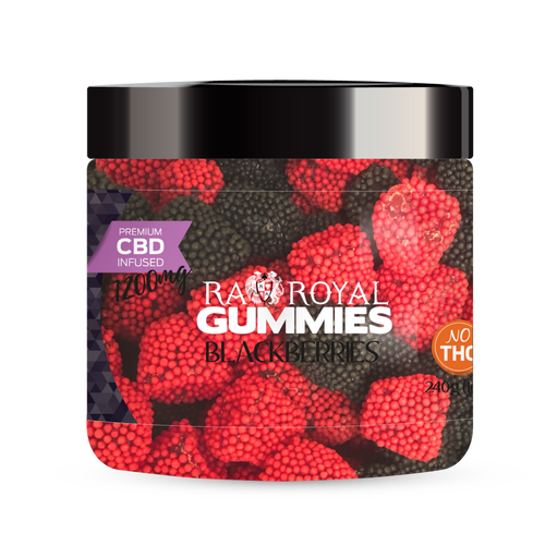 R.A. Royal Gummies – 1200MG CBD Infused Blackberries
