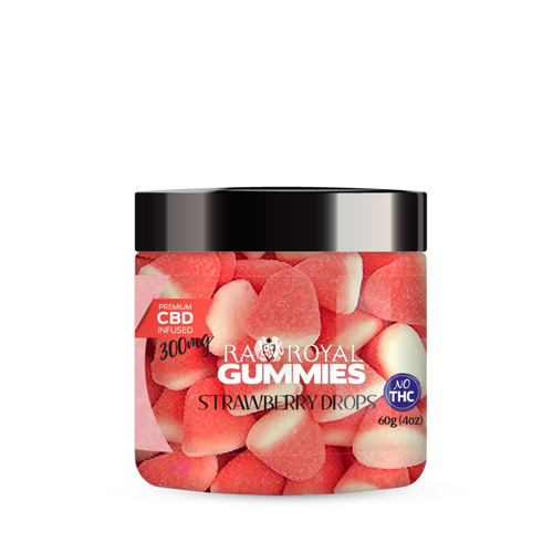 R.A. Royal Gummies – 300MG CBD Infused Strawberry Drops