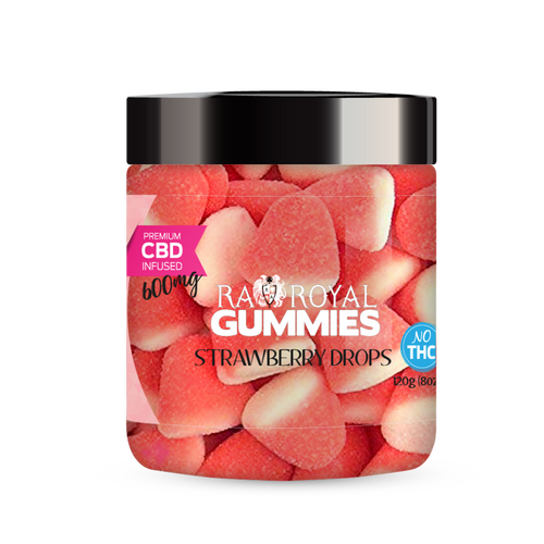 R.A. Royal Gummies – 600MG CBD Infused Strawberry Drops