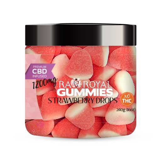 R.A. Royal Gummies – 1200MG CBD Infused Strawberry Drops