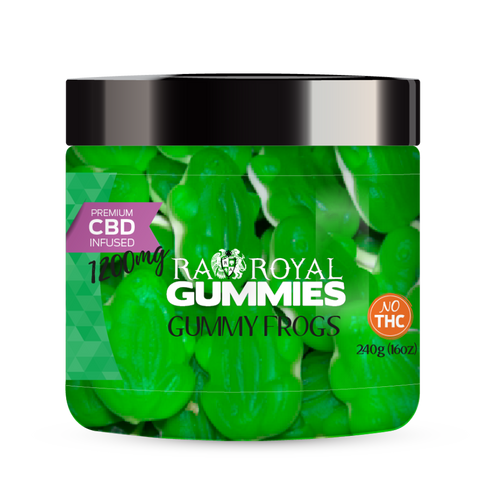 R.A. Royal Gummies – 1200MG CBD Infused Green Frogs